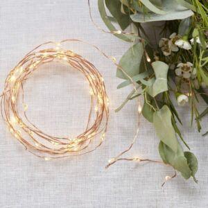 LED fényfüzér (3 m) – rose gold