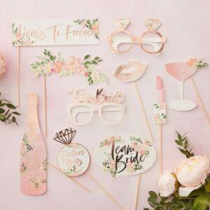 fotókellékek – lánybúcsú, virágos
