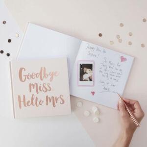 lánybúcsú emlékkönyv – Goodbye Miss Hello Mrs