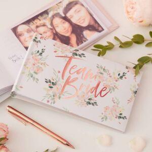 lánybúcsú fotóalbum – Team Bride, virágos