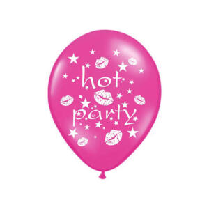 lánybúcsú lufi 30 cm – hot party, pink