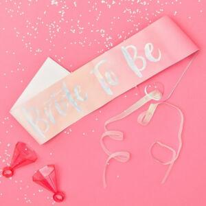 lánybúcsú szalag – Bride To Be, rózsaszín