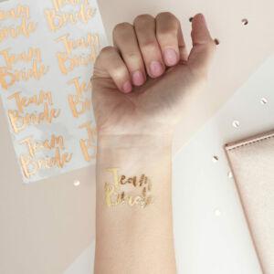 lánybúcsú tetoválás (16 db/cs) – Team Bride