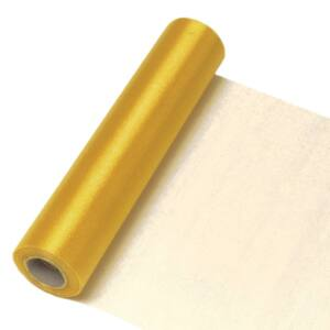 23,5 cm széles organza futó (10 m) – arany