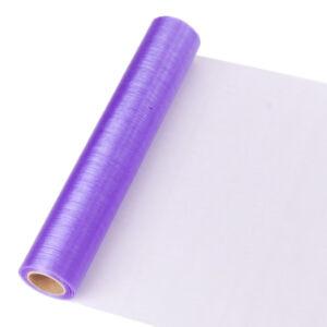23,5 cm széles organza futó (10 m) – lila