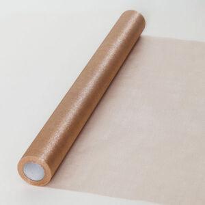 47 cm széles organza futó (10 m) – púderszín