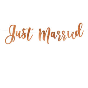 Just Married füzér – rose gold