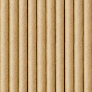 papír szívószál (10 db/cs) – natúr