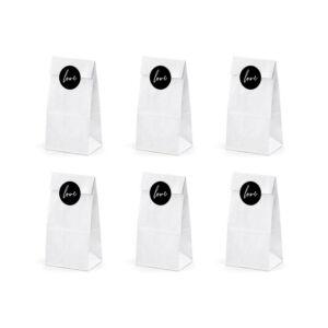 papírzacskó (6 db/cs) – fehér, love