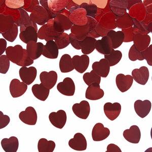 szív konfetti (30 g/cs) – kicsi, piros