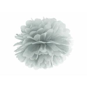 pompom 35 cm – ezüst