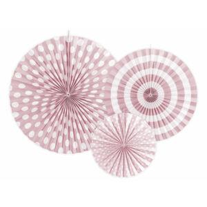 papír rozetta (3 db/cs) – púderrózsaszín