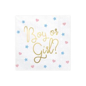 szalvéta 33x33 cm 3 rétegű (20 db/cs) – Boy or Girl