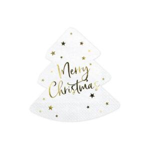 szalvéta 16x16,5 cm 3 rétegű (20 db/cs) – Merry Christmas, fenyő alakú