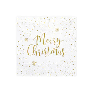 szalvéta 33x33 cm 3 rétegű (20 db/cs) – Merry Christmas