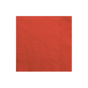 szalvéta 33x33 cm 3 rétegű (20 db/cs) – piros