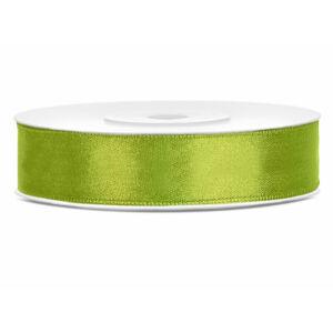 12 mm széles szatén szalag (25 m) – fűzöld