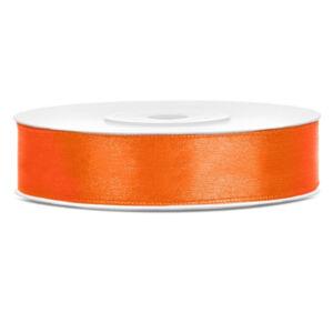 12 mm széles szatén szalag (25 m) – narancs
