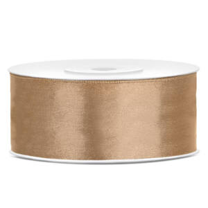 25 mm széles szatén szalag (25 m) – arany