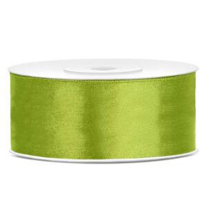 25 mm széles szatén szalag (25 m) – fűzöld