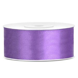 25 mm széles szatén szalag (25 m) – lila