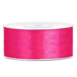 25 mm széles szatén szalag (25 m) – pink