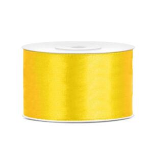 38 mm széles szatén szalag (25 m) – citromsárga