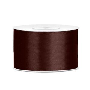 38 mm széles szatén szalag (25 m) – kávébarna