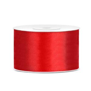 38 mm széles szatén szalag (25 m) – piros