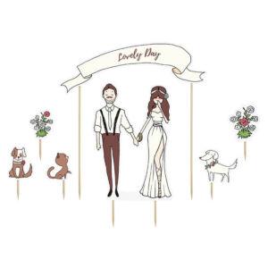 esküvői tortadísz (karton) – lovely day
