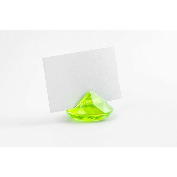 gyémánt alakú ültetőkártya tartó (10 db/cs) – zöld