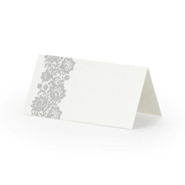 ültetőkártya (25 db/cs) – ezüst mintás