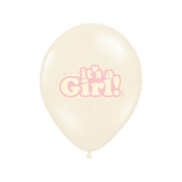 babaváró It's a Girl lufi 30 cm (6 db/cs) – rózsaszín