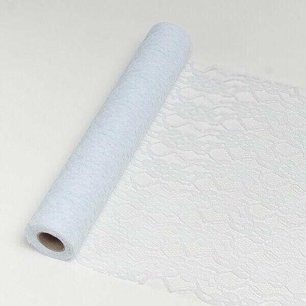 29 cm széles csipke futó (5 m) – fehér