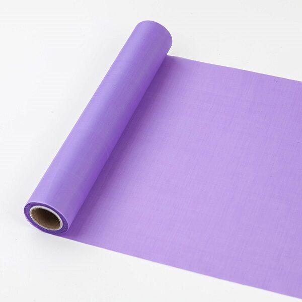 25 cm széles dekorselyem futó (10 m) – lila