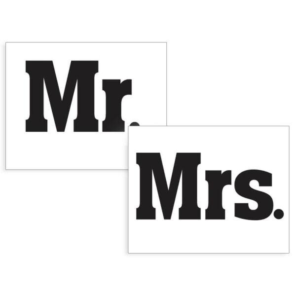 esküvői cipőmatrica (2 db/cs) – Mr és Mrs