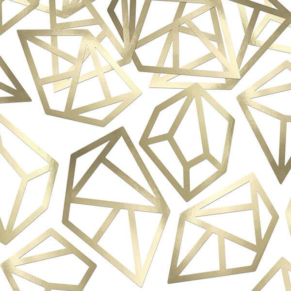 papír konfetti (5 db/cs) – drágakő