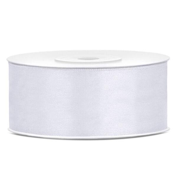 25 mm széles szatén szalag (25 m) – fehér