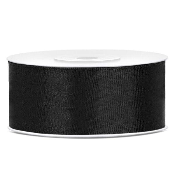 25 mm széles szatén szalag (25 m) – fekete