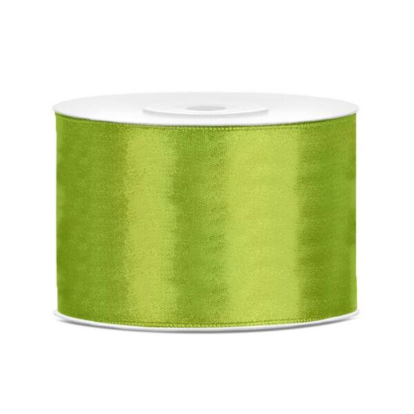 50 mm széles szatén szalag (25 m) – élénk fűzöld 308d9d6505