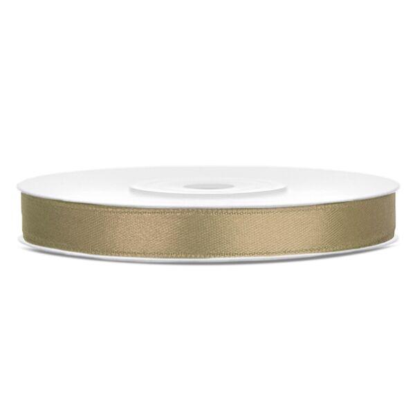 6 mm széles szatén szalag (25 m) – cappuccino