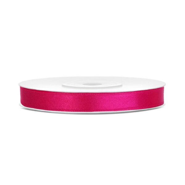 6 mm széles szatén szalag (25 m) – pink