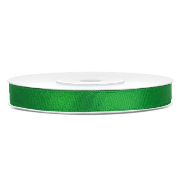 6 mm széles szatén szalag (25 m) – smaragdzöld