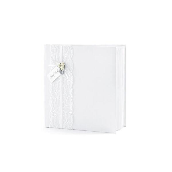 d77d1ce787 esküvői vendégkönyv – vintage, fehér - vendégkönyv