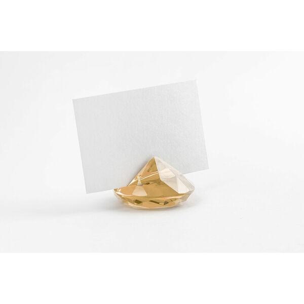 gyémánt alakú ültetőkártya tartó (10 db/cs) – arany