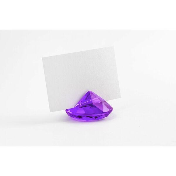 gyémánt ültetőkártya tartó (10 db/cs) - lila