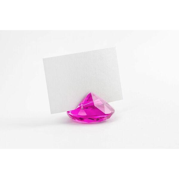 gyémánt alakú ültetőkártya tartó (10 db/cs) – pink