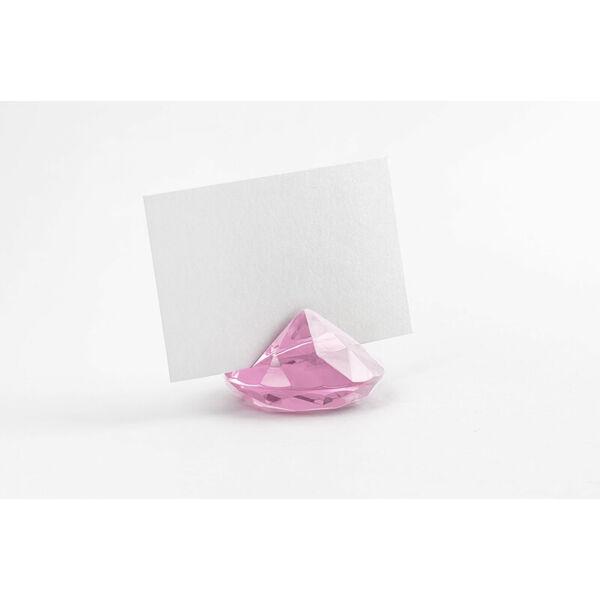 gyémánt ültetőkártya tartó (10 db/cs) – rózsaszín
