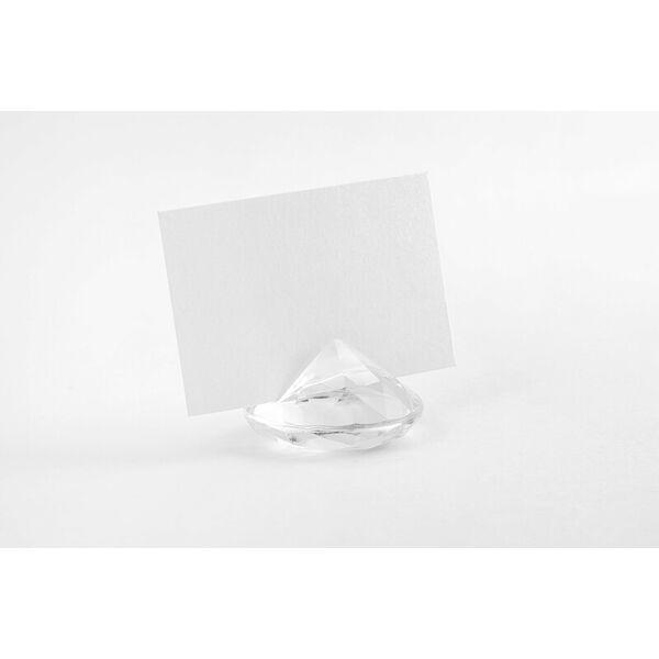 gyémánt ültetőkártya tartó (10 db/cs) - színtelen