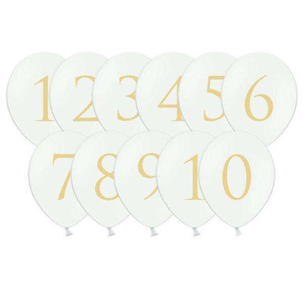 lufi asztalszámok (11 db/cs)